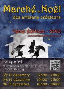 Flyer du Marché de Noël des Artisans Créateurs 2013