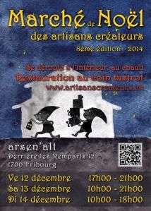 Flyer du Marché de Noël des Artisans Créateurs 2014