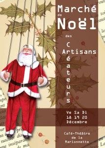Flyer du Marché de Noël des Artisans Créateurs 2009