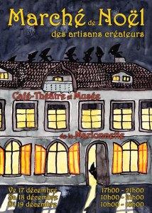 Flyer du Marché de Noël des Artisans Créateurs 2010