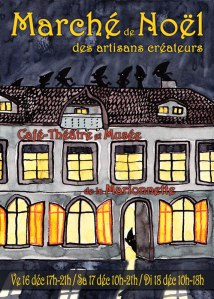 Flyer du Marché de Noël des Artisans Créateurs 2011