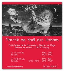 Flyer du Marché de Noël des Artisans Créateurs 2007
