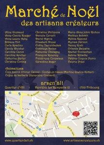 Flyer du Marché de Noël des Artisans Créateurs 2012