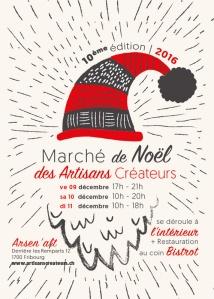 Flyer du Marché de Noël des Artisans Créateurs 2016