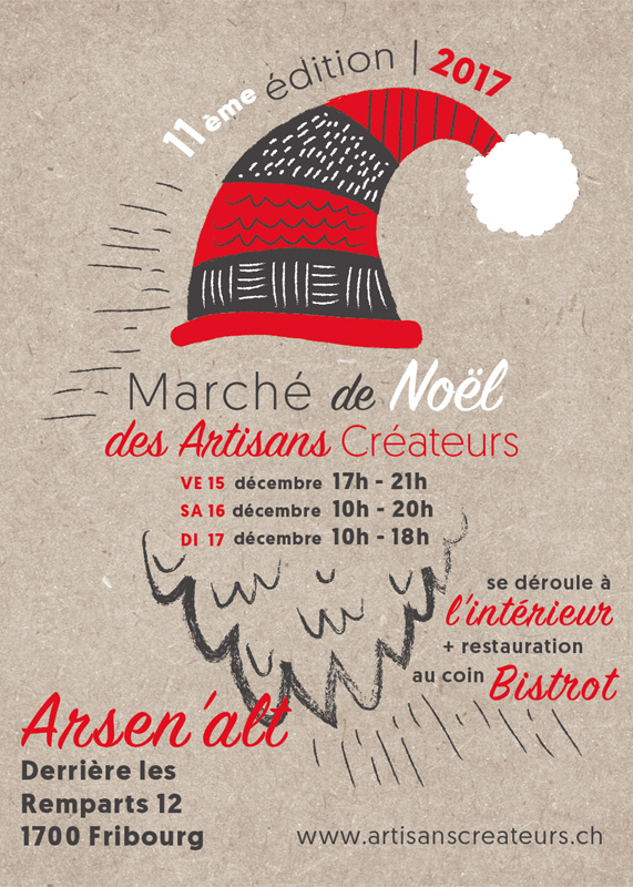 Populaire Flyers du Marché de Noël des Artisans Créateurs – Marché de Noël  PP94