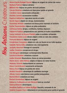 Flyer du Marché de Noël des Artisans Créateurs 2017