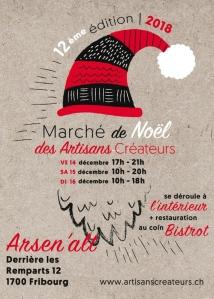 Flyer du Marché de Noël des Artisans Créateurs 2018